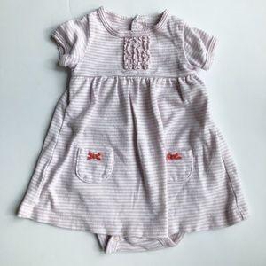 5/$25 Carter's Babydoll Pink/White Striped Dress